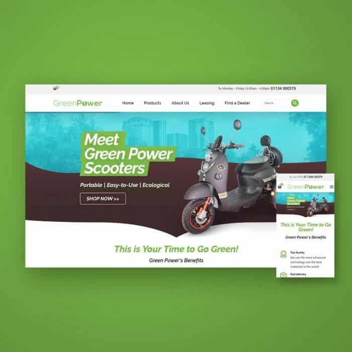 בניית חנות דיגיטלית - Greenpower